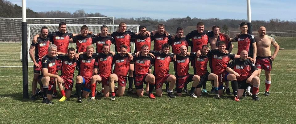 team photo of Iowa rugby team