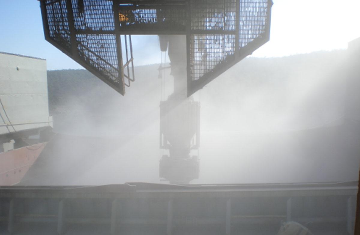 Impact fertiliser loading dust before DSH system install