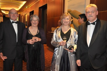 Trevor & Judi Schwass with Ruth & Ian Walton at the AmCham Innovation Awards July 2011